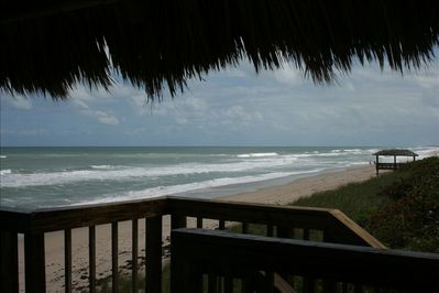 View from our 2-story tiki hut.