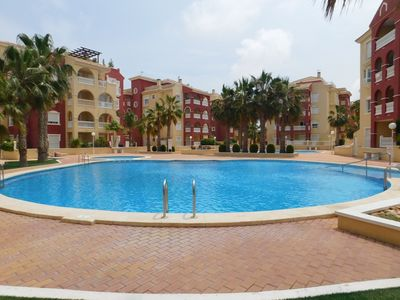 Photo for Los Alcazares 2 bed apartment, top floor with roof terrace. Shared pools
