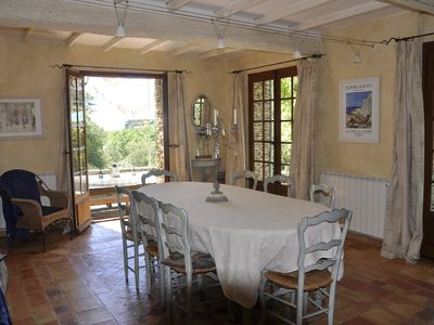 Photo for SLEEPS UP TO 12 IN 6 BEDROOMS, STUNNING LOCATION LOOKING OVER SAUMANE de VAUCLUS