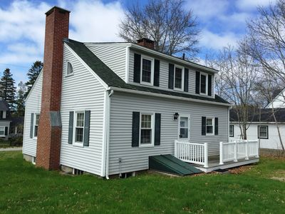 Photo for Ocean views,walk to town,sleeps 6,Maine cape,fireplace,1st floor bedroom,economy