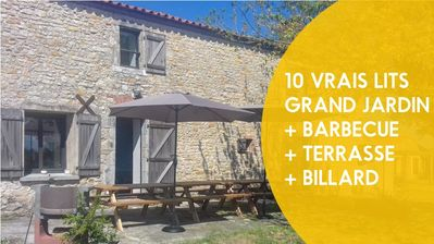 Photo for House 170 m from the center of Saint-Hilaire-la-Forêt with Parking, Washing machine, Garden, Terrace (997053)