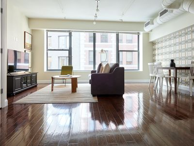 Photo for Sonder | Financial District | Warm 2BR + Sofa Bed