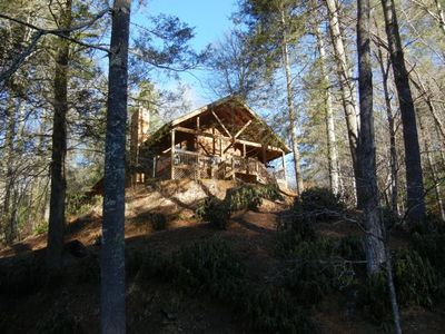 Photo for Luxury Cabin Overlooking Large Trout Pond on Former Summer Camp.. Come & Play