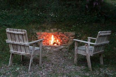 Firepit for those cool evenings!