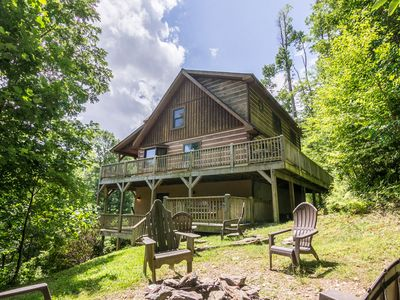 Photo for 2 Cubs Cabin - Inviting cabin near Blowing Rock with hot tub, pool table, fire pit!