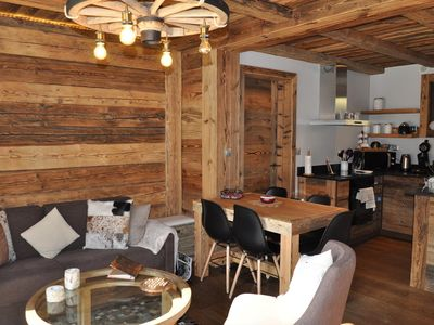 Photo for 3 bedroom apartment very cocooning located on the ground floor of a chalet at the entrance of La Cha