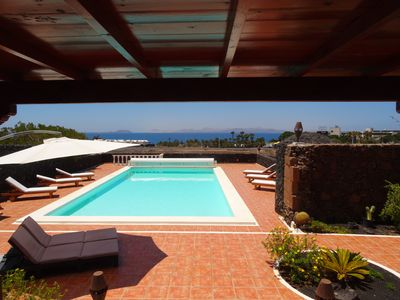 Photo for Villa on private land of 3570 M2, Heated swimming pool 12X6, 200 m from the sea,