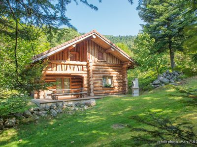 Photo for Beautiful log cabin of 130 m², in the Vosges, wifi, near slopes
