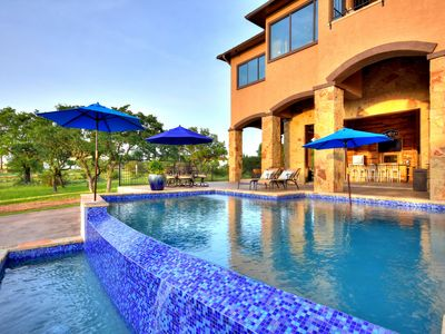 Photo for Brand New Lake Travis Waterfront Dream Home, Pool, Dock, Views, Outdoor Kitchen