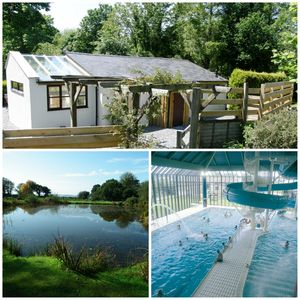 Photo for Lovely cottage in 4 acres - 2 lakes, hot tub, out door pool & health club passes