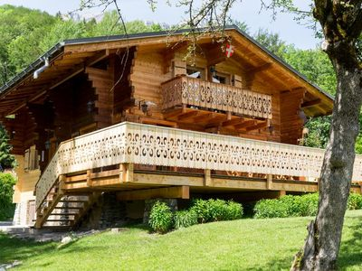 Photo for warm wooden chalet for 12 people, Chamonix, views Mt Blanc