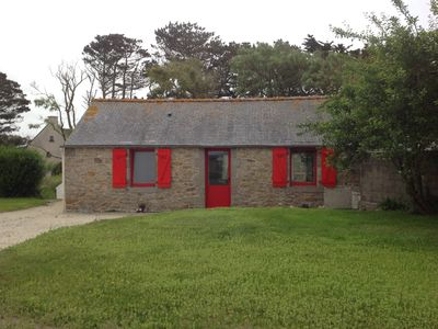 Photo for Small Breton house 2 steps from the sea with terrace and large garden.