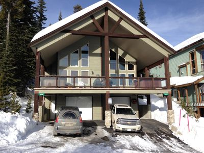 Photo for Big White Large Dog Friendly Chalet with Private Hot Tub!