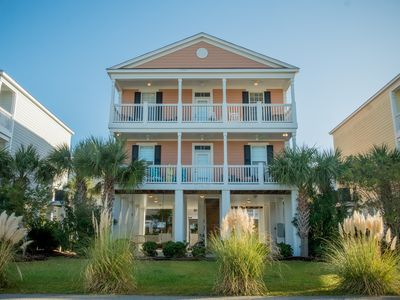 Photo for Beautiful 2 story the street from the beach in beautiful Garden City Beach SC