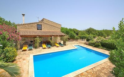 Photo for Can Blanc Majorcan villa with swimming pool in a private area 018