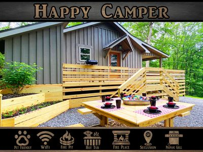 Photo for Happy Camper - Secluded / Hot Tub / WiFi / Fire Pit / Wears Valley