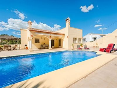 Photo for Comfortable single storey villa for 6 persons in Moraira.