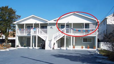 Unit 201 with private balcony and only 1 block from the beach!!