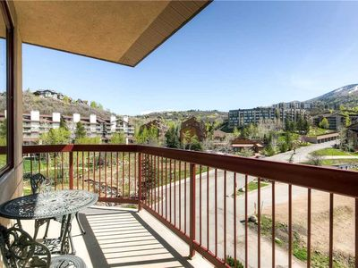 Photo for Slopeside Condo w/Balcony, Mountain Views & Pool, Biking Trails Close by