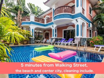Photo for Villa 6 bedrooms with private pool 5 minutes Walking Street and beaches