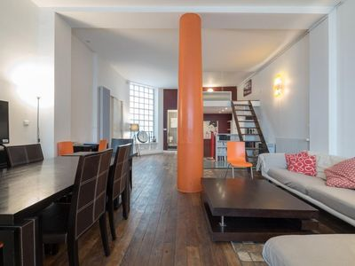 Photo for LOFT CHABROL - Superb Loft for 8 (4 rooms) - CANAL SAINT-MARTIN - REPUBLIQUE