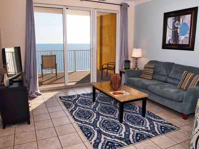 Photo for Gulf-Front Condo! 2/2; Large Balcony, King Beds, Free Beach Service & Sunsets