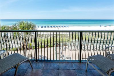 Breathtaking views of Emerald Coast right from our condo
