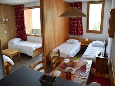 Photo for Apartment La Plagne, studio flat, 4 persons