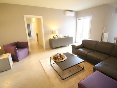 Photo for Holiday designer apartment, 3.5 rooms, 2 bedrooms, 2 bathrooms, kitchen, washing