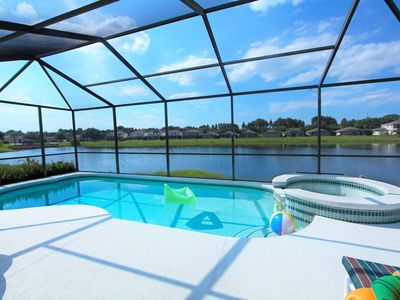 Photo for Beautiful Villa in Sunset Lakes, Only 4 Miles from Disney!