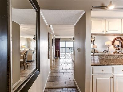Elegant, 7th Floor 2 Bed/2 Bath Oceanfront condo sleeps 6. Beautifully decorated with a W/D in house.  Amenities include pool, community grills, private fishing pier and tennis courts!