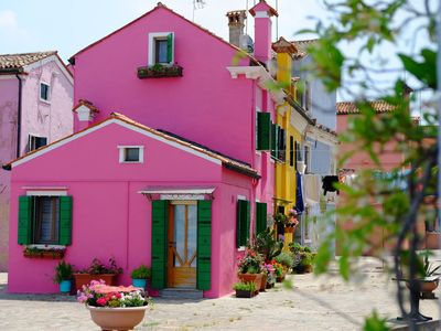 Photo for NIght Gallery: Art-Filled, Burano Waterfront Cottage, Great View, Venice 45 mn.