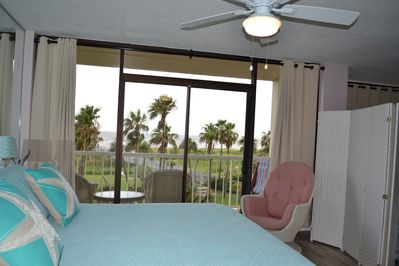 All rooms have a view of the gulf.