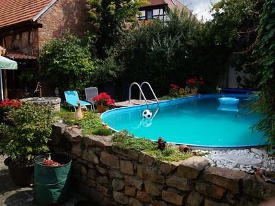 Photo for NEW since Jan. 2015: Apartment with sunny yard, garden and pool