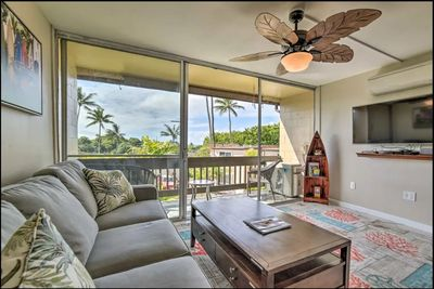 Living room looking out to Lanai