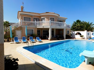 Photo for Detached 4 Bedroom Air Conditioned Holiday Villa with Large Pool in La Marina