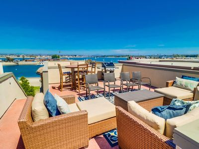 Photo for 🌴 Unmatched Relaxation | Panoramic Sunsets | Multiple Decks | Private Roof Deck