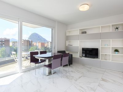 Photo for Beautiful Two-Room Apartment Close to the Lugano Exhibition Center - ROGGIA 17
