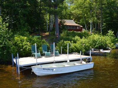 Photo for Cozy Secluded Lakefront Cottage WITH BOAT, Kayaks & Canoe!  Boat Access Only!