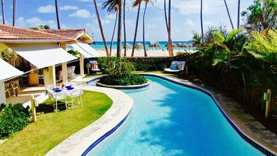 Photo for Idyllic Beach Villa for 24 guests at Punta Cana