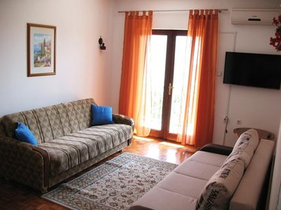Photo for Two bedroom apartment with balcony and sea view Petrčane (Zadar) (A-11115-c)