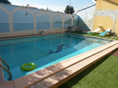 Photo for Air conditioned villa 6-8 pers with large pool 9x5