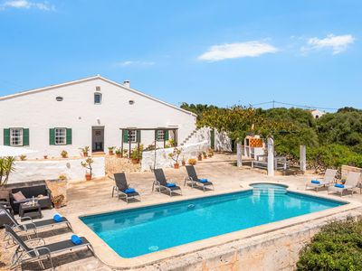 Photo for Finca Binicalaf Vell - seaview and private pool, pure Menorca!