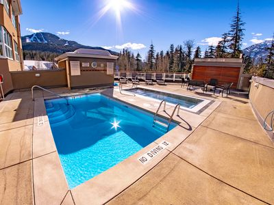 Photo for 4 Beds, 3 Full Baths modern, central location, slopeside views, hot tub, pool
