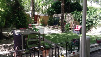 Photo for A beautiful apartment with a large garden in the heart of the city, very well located