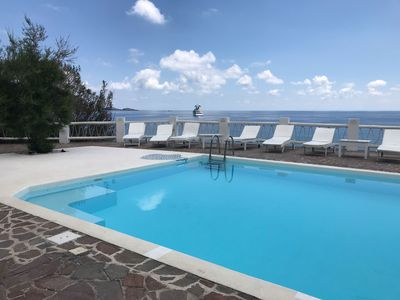 Photo for Seaside Italian villa w/  ocean views, private patio, & gardens - shared pool!