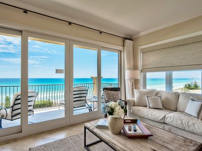 Photo for Adagio C205 four bedroom on the beach,pools, gym - west side, corner condo!