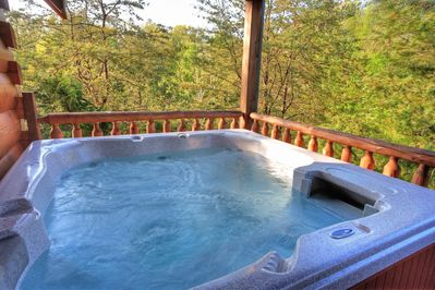 Soak in the Hot Tub after a day in Pigeon Forge