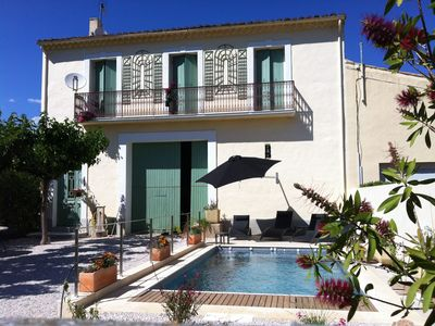 Photo for Recently renovated vineyard 5* house with heated pool and private garden