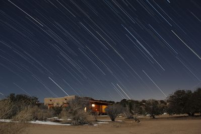 Startrails over the casita